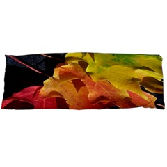 Green Yellow Red Maple Leaf Body Pillow Case Dakimakura (two Sides)