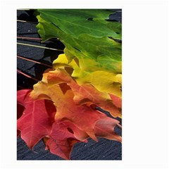 Green Yellow Red Maple Leaf Small Garden Flag (two Sides)