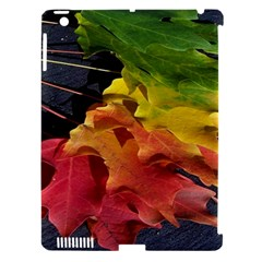 Green Yellow Red Maple Leaf Apple iPad 3/4 Hardshell Case (Compatible with Smart Cover)