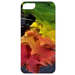 Green Yellow Red Maple Leaf Apple iPhone 5 Classic Hardshell Case