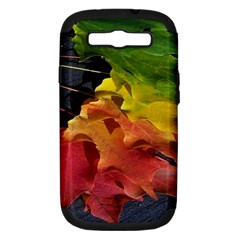 Green Yellow Red Maple Leaf Samsung Galaxy S Iii Hardshell Case (pc+silicone)