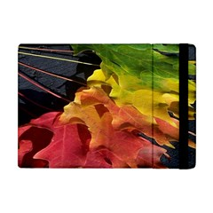 Green Yellow Red Maple Leaf Apple Ipad Mini Flip Case