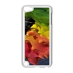 Green Yellow Red Maple Leaf Apple Ipod Touch 5 Case (white)