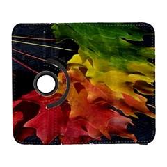 Green Yellow Red Maple Leaf Galaxy S3 (flip/folio)
