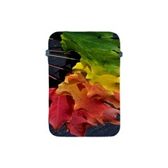 Green Yellow Red Maple Leaf Apple iPad Mini Protective Soft Cases