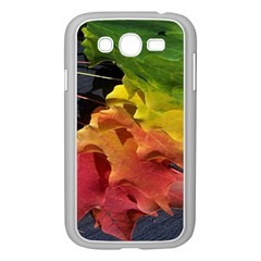 Green Yellow Red Maple Leaf Samsung Galaxy Grand DUOS I9082 Case (White)
