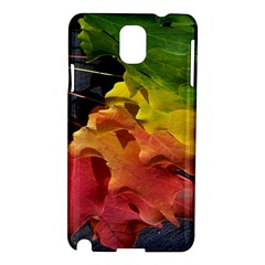 Green Yellow Red Maple Leaf Samsung Galaxy Note 3 N9005 Hardshell Case