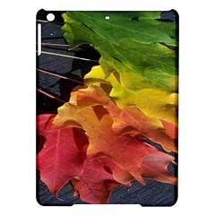 Green Yellow Red Maple Leaf Ipad Air Hardshell Cases