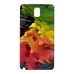 Green Yellow Red Maple Leaf Samsung Galaxy Note 3 N9005 Hardshell Back Case