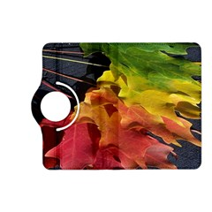 Green Yellow Red Maple Leaf Kindle Fire HD (2013) Flip 360 Case