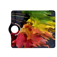 Green Yellow Red Maple Leaf Kindle Fire HDX 8.9  Flip 360 Case