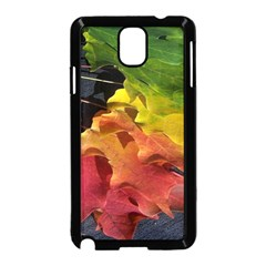 Green Yellow Red Maple Leaf Samsung Galaxy Note 3 Neo Hardshell Case (Black)