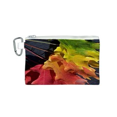 Green Yellow Red Maple Leaf Canvas Cosmetic Bag (s)