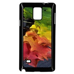 Green Yellow Red Maple Leaf Samsung Galaxy Note 4 Case (black)