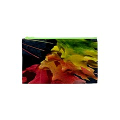 Green Yellow Red Maple Leaf Cosmetic Bag (xs)