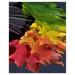 Green Yellow Red Maple Leaf Drawstring Bag (small)