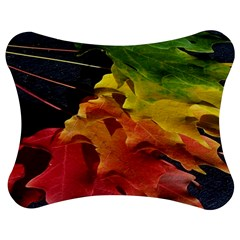 Green Yellow Red Maple Leaf Jigsaw Puzzle Photo Stand (Bow)