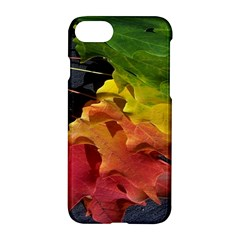 Green Yellow Red Maple Leaf Apple Iphone 7 Hardshell Case