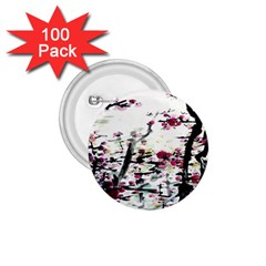 Pink Flower Ink Painting Art 1.75  Buttons (100 pack)
