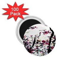 Pink Flower Ink Painting Art 1.75  Magnets (100 pack)