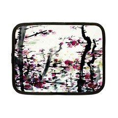 Pink Flower Ink Painting Art Netbook Case (Small)