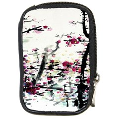 Pink Flower Ink Painting Art Compact Camera Cases
