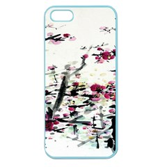 Pink Flower Ink Painting Art Apple Seamless iPhone 5 Case (Color)