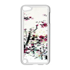 Pink Flower Ink Painting Art Apple iPod Touch 5 Case (White)