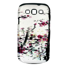 Pink Flower Ink Painting Art Samsung Galaxy S Iii Classic Hardshell Case (pc+silicone)