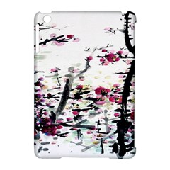 Pink Flower Ink Painting Art Apple iPad Mini Hardshell Case (Compatible with Smart Cover)