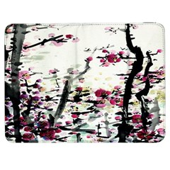 Pink Flower Ink Painting Art Samsung Galaxy Tab 7  P1000 Flip Case