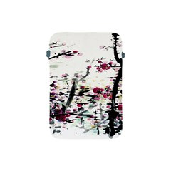 Pink Flower Ink Painting Art Apple iPad Mini Protective Soft Cases