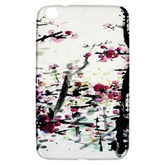 Pink Flower Ink Painting Art Samsung Galaxy Tab 3 (8 ) T3100 Hardshell Case