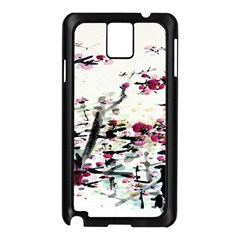 Pink Flower Ink Painting Art Samsung Galaxy Note 3 N9005 Case (Black)