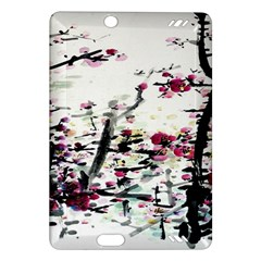 Pink Flower Ink Painting Art Amazon Kindle Fire Hd (2013) Hardshell Case