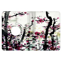 Pink Flower Ink Painting Art Kindle Fire HDX Flip 360 Case