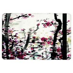 Pink Flower Ink Painting Art iPad Air Flip