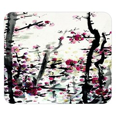 Pink Flower Ink Painting Art Double Sided Flano Blanket (small)