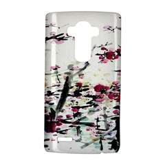 Pink Flower Ink Painting Art LG G4 Hardshell Case