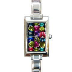 Stained Glass Rectangle Italian Charm Watch