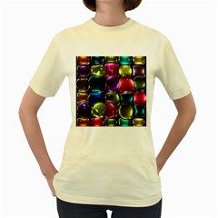 Stained Glass Women s Yellow T-Shirt