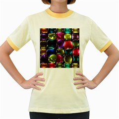 Stained Glass Women s Fitted Ringer T-Shirts