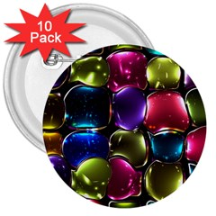 Stained Glass 3  Buttons (10 pack)