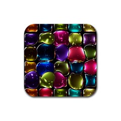 Stained Glass Rubber Square Coaster (4 pack)