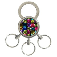 Stained Glass 3 Ring Key Chains