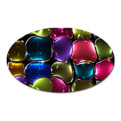 Stained Glass Oval Magnet