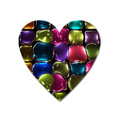 Stained Glass Heart Magnet