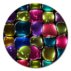 Stained Glass Magnet 5  (round)
