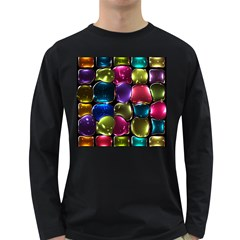 Stained Glass Long Sleeve Dark T Shirts