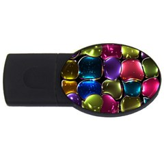 Stained Glass USB Flash Drive Oval (4 GB)